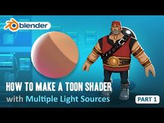 Toon Shader Tutorial - Part 1 - How to Have Multiple Light Sources (Blender Blender 3d, Blender Models, Blender Character Modeling, Video Game Development, Blender Tutorial, Modeling Tips, Digital Painting Tutorials, 3d Tutorial, Unreal Engine