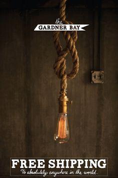 Kronleuchter Beleuchtung Industrial Light Light Hängeleuchte - rustikale Seil Design hängen