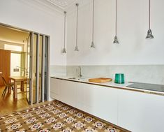 Beautiful traditional tiles in a sunny and warm Barcelona located apartment. Interior design by Built Architecture. Found on Yellowtrace. Barcelona Apartment, Traditional Tile, Apartment Renovation, Apartment Interior, House Built, Small Apartments, Interior Design Kitchen, Interior Architecture, House Design