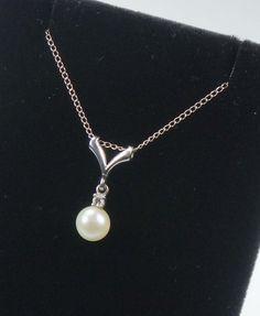 Vintage 14k Pearl Necklace Vintage Pearl and by BelmarJewelers