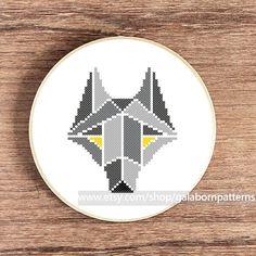 PDF counted cross stitch pattern - Wolf geometric - Woodland animals by galabornpatterns on Etsy https://www.etsy.com/listing/162206102/pdf-counted-cross-stitch-pattern-wolf