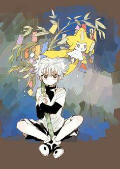 Killua with Jirachi ♥*^O^*