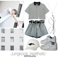 Aesthetic: Jungkook by btsoutfits on Polyvore featuring polyvore, fashion, style, Chicnova Fashion, NIKE, ASOS, Orca, Wildfox and clothing