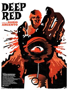 "Illustration //  Dario Argento´s ""Profondo Rosso"" by  ""Alternative Movie Posters"""