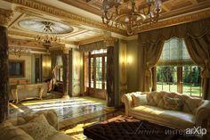 Классический интерьер гостиной в загородном доме: интерьер, квартира, дом…