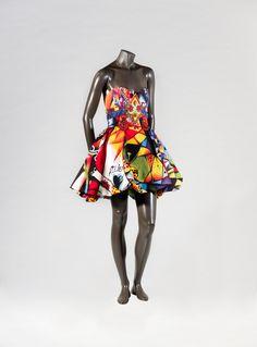 1991, Italy - Evening dress by Gianni Versace - Acrylic silk, polyester, glass beads, crystal beads, rhinestones, metallic fittings