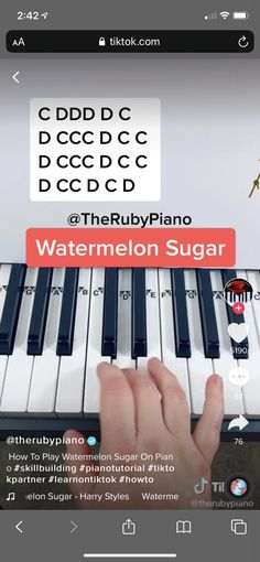 Piano Sheet Music Letters, Piano Music Easy, Piano Music Notes, Music Chords, Music Songs, Piano Lessons, Music Lessons, Music Hacks, Piano Tutorial
