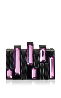 Castellum Solid In Black & Violet by Rauwolf for Preorder on Moda Operandi