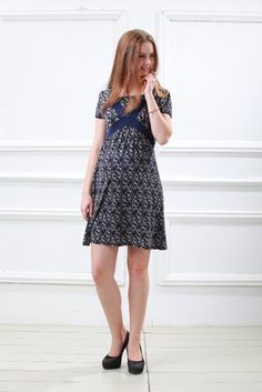 Amazon.com: Style Up Cat pattern Nursing And Maternity Dress: Clothing