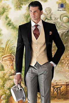 Italian bespoke black wedding morning suit 905 Ottavio Nuccio Gala.