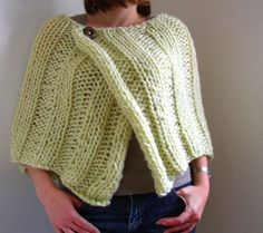 chunky knitted ribbed wrap