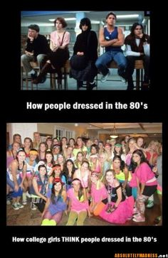 "TRUE!  BTW- love Breakfast Club!  Neon was popular for a short time is the 80's though!  Although, these girls look like Olivia Newton John in her ""Let's Get Physical"" video!  HAHA"