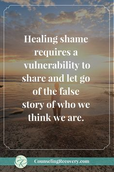 How to release the false story of shame | low self-esteem | codependency | overcoming shame | shame and guilt | Brene brown shame | Click to read more. #shame