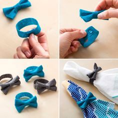 DIY Bow Napkin Rings.