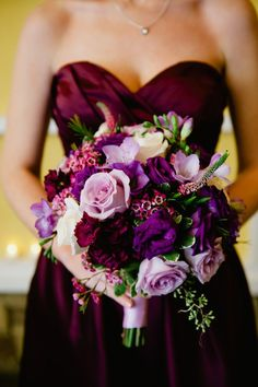 {Purple & Silver} Autumn Wedding|Photographer:  Off BEET Productions
