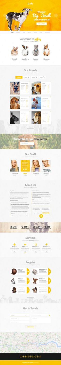 Buy Joffrey - A PSD Theme for Dog Lovers by creativemonkie on ThemeForest. Joffrey is a PSD website template that is characterized by a good looking modern design with fresh colors and is buil. Ui Design, Web Design Tips, Layout Design, Website Layout, Web Layout, Pet Websites, Site Inspiration, Banners, Site Vitrine