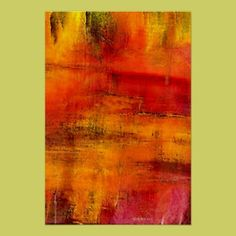 Red - Abstract Painting Poster