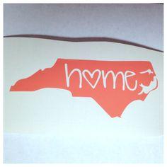 CAROLINA GIRL Sticker Cute Vinyl Decal North South East Coast Car Truck Woman SC