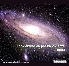 Frase de Rumi - Conviértete en poesía viviente