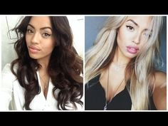 From Black to Blond Hair! - YouTube im thinking of going to blond