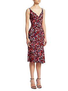 a11caebdad18 Elie Tahari Yirma Floral Sleeveless Dress