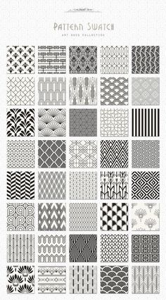 Pattern design art deco seamless patterns bundle by jessika on creative market – design Motif Art Deco, Art Deco Design, Art Designs, Art Deco Style, Art Deco Art, Design Design, Art Deco Nails, 1920s Art Deco, Vector Design