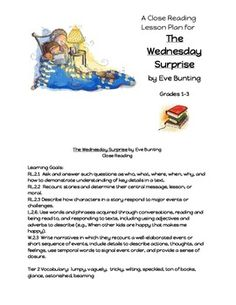 Close Reading Lesson Plan-The Wednesday Surprise by Eve Bunting