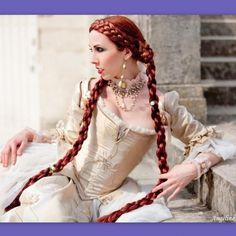 Medieval Renaissance costume wig long Braid hair extensions SCA garb | Puppycatmeow