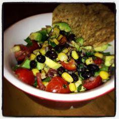 I Don't Go to the Gym: Black Bean, Roasted Corn & Avocado Salsa