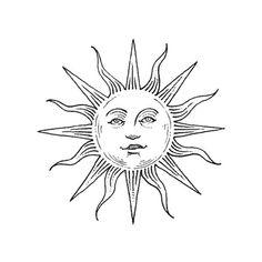 If wishes were fishes. Tatoo Art, Tattoo Drawings, Mini Tattoos, Small Tattoos, Sun Doodles, Los Muertos Tattoo, Datum Tattoo, Sun Drawing, Sun Tattoo Designs