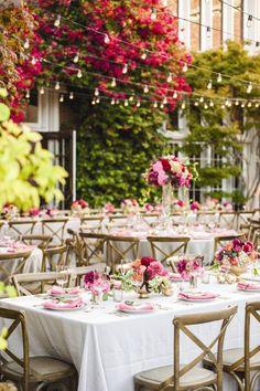 Pink wedding reception idea; Featured Photographer: Melanie Duerkopp