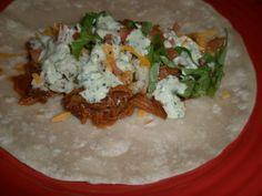 Cafe Rio Sweet Pork Burritos w/ Cilantro Lime Rice and Dressing