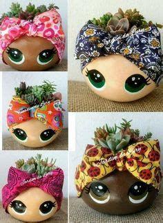 Flower Pot Crafts, Clay Pot Crafts, Diy Home Crafts, Garden Crafts, Garden Art, Painted Plant Pots, Painted Flower Pots, House Plants Decor, Plant Decor