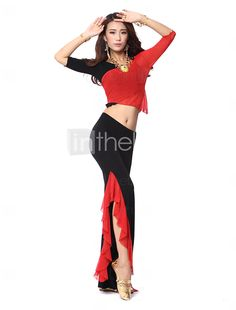Beauty Dancewear Women's Mercereized Cotton/Tulle Belly Dance Outfits(More Colors) 2015 – €28.49