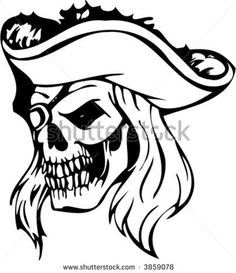 Stock vector pirate skull vector image 3859078 jpg