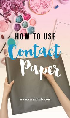 How to use contact paper. It's perfect in converting most surface into a chalkboard-like surface!