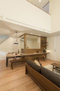 ダイニング My Home Design, House Design, Interior Design, House Interior, Cabin Interiors, Home Kitchens, Interior, Kitchen Design, Diy Sofa Bed