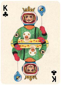 Jonathan Burton, King of Clubs - Playing Card (Illustration), 2013.