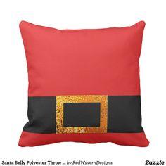 Santa Belly Polyester Throw Pillow