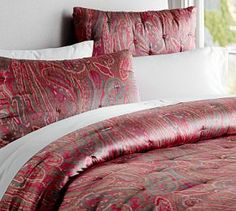 Scarlett Paisley Whole Cloth Quilt & Shams #Pottery Barn
