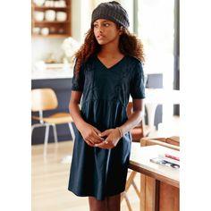 Vestido curto com aplicações em renda 10-16 anos R Teens | La Redoute