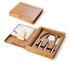 White Teak Swivel Top Cheese Board With 4 Tools. Product: Cheese Board Hard  Cheese Knife Cheese Shaver Fork Tipped Cheese Knife Cheese Spreader U2026