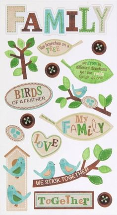 The Family Tree Scrapbooking Stickers