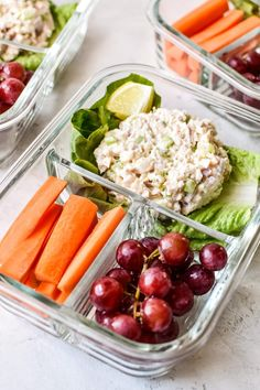 Rock the hot weather meal prep session with this Low Carb Tuna Salad Lettuce Wraps Meal Prep lunch! It's a simple three serving meal prep of tuna salad with romaine lettuce wraps paired with fruits and veggies – healthy, easy, and no heating required! Healthy Recipes, Healthy Meal Prep, Healthy Drinks, Lunch Recipes, Diet Recipes, Healthy Eating, Healthy Foods, Clean Eating, Healthy Lunches