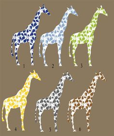 Children Giraffe Wall Decal with Paisley pattern for by Popitay, $43.00