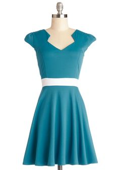 Vivacious and Vibrant Dress in Turquoise, #ModCloth