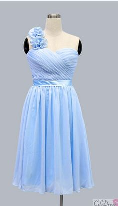 without the flowers on the shoulder, I'd love this bridesmaid dress