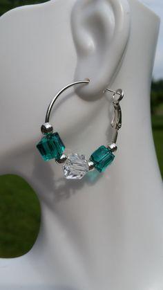 Beaded Earrings Beaded Jewelry Hoop by CathysCraftyDesigns on Etsy