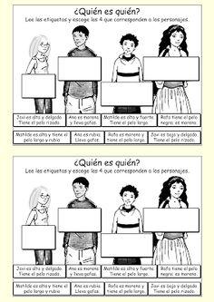 Quién es quién via Me encanta escribir en español: interactivo