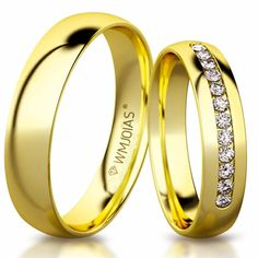 31a3f88972f43 Aliança de ouro Celeste WM3188